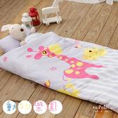 【R.Q.POLO】動物樂園 新絲柔 兒童冬夏兩用鋪棉書包型睡袋(4.5X5尺)