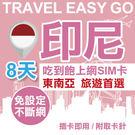 【Travel EZ go】印尼上網卡 8日 4G上網不斷網 吃到飽上網SIM卡