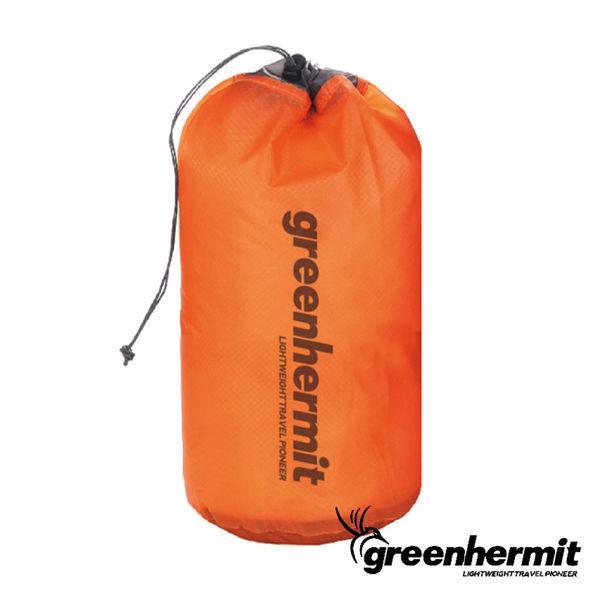 GREEN HERMIT 蜂鳥 超輕防潑水束口袋10L-珊瑚玫瑰橘 旅行收納袋 打工度假 戶外 OD3110