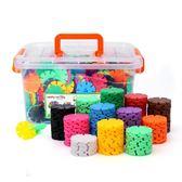 雪花片積木拼插男女孩兒童1-2-3-6-7周歲寶寶益智力塑料拼裝玩具    琉璃美衣