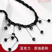 流蘇韓版項鏈女蕾絲短款脖子鏈項圈頸帶choker頸鏈鎖骨鏈性感配飾