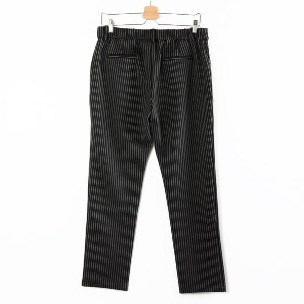 【MASTINA】直條紋造型長褲-深灰  秋裝限定嚴選