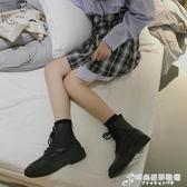 早秋馬丁靴女英倫風短靴女春秋單靴網紅瘦瘦靴新款百搭ins潮 時尚芭莎