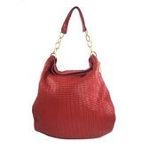 【雪曼國際精品】Christian Dior 皮革編織側背購物包~二手商品(9成新)