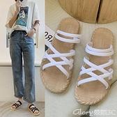 [兩雙]沙灘涼鞋新款涼拖鞋女夏外穿百搭韓版網紅羅馬風格厚底沙灘時尚女拖鞋 榮耀新鞋