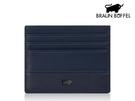 【寧寧精品】BRAUN BUFFEL 小金牛台中專賣店邦尼系列 超薄單片名片夾證件夾 暗夜藍 BF322-408-1