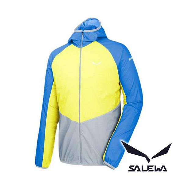 SALEWA 沙樂華 PEDROC 男 超輕量夾克『皇藍/檸黃/灰』26284 休閒外套 路跑慢跑外套 運動外套