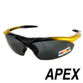 APEX 805運動型太陽眼鏡- 黑/金