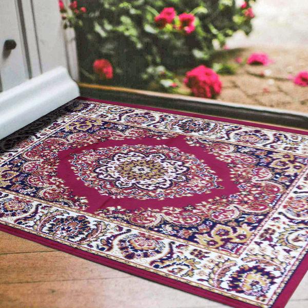 范登伯格 紅寶石輕柔絲質感地毯-踏墊-門墊-華采(紅)-50x70cm