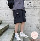 大碼機能風運動短褲男士夏季休閒五分褲寬鬆薄款中褲子【大碼百分百】