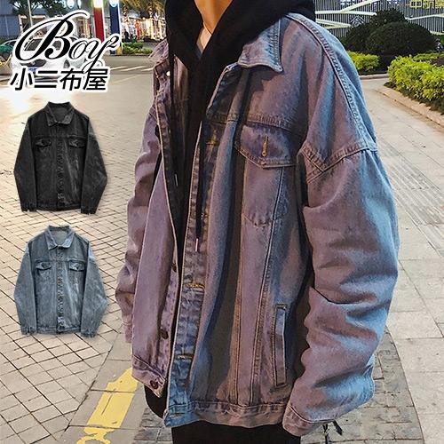 牛仔外套 口袋鈕扣大尺碼單寧夾克【NLGC-8853】