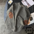 加厚男士毛衣韓版潮流帥氣貼布百搭針織打底衫【左岸男裝】