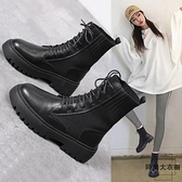 馬丁靴女英倫風秋季鞋子潮單靴短靴子【時尚大衣櫥】