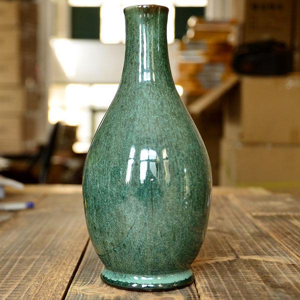 |日式粗陶|綠釉花瓶