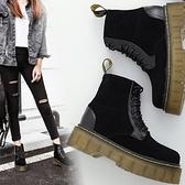 厚底短靴-流行英倫風時尚加絨女馬丁靴73is35[時尚巴黎]
