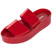 MELISSA 時尚厚底拖鞋-紅色