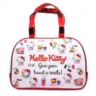 asdfkitty可愛家-KITTY彩色防水半透明手提包/手提袋/游泳袋-好擦好洗-日本正版商品