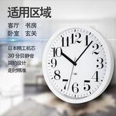 精工機芯靜音簡約現代掛鐘客廳個性創意時鐘