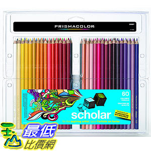 [106美國直購] Prismacolor 92808HT 60色 彩色鉛筆 Scholar Colored Pencils, 60-Count
