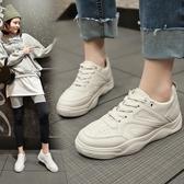 女休閒鞋 韓版女鞋子 春季新款透氣小白鞋女百搭學生板鞋平底基礎平底鞋【多多鞋包店】ds3702
