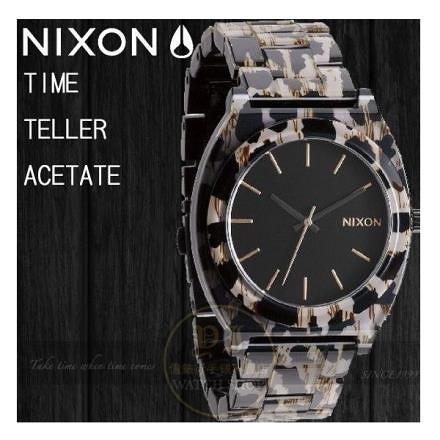 【南紡購物中心】NIXON 實體店The TIME TELLER ACETATE 腕錶 A327-1157/Leopard公司貨