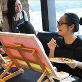 畫架 美術桌面台式升降木制油畫架櫸木廣告海報展架 榮耀3c