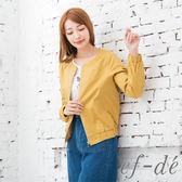 【ef-de】激安 壓摺縮口亮眼罩衫外套(黃)