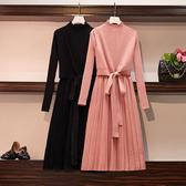 氣質假兩件半高領針織洋裝 獨具衣格J2392