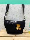 【震撼精品百貨】Rilakkuma San-X 拉拉熊懶懶熊~拉拉熊斜背包-黑#82982