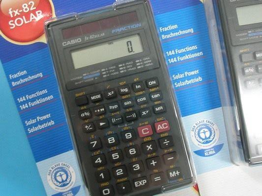 CASIO卡西歐 FX-82SOLAR 工程用計算機(國家考試公告指定機型)/一台入{促499}