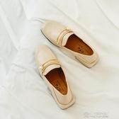 小皮鞋英倫風小皮鞋女 新款春季韓版百搭復古方頭粗跟單鞋女樂福鞋潮  全館免運
