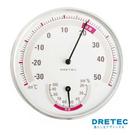 【日本DRETEC】溫濕度計-白