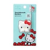 小禮堂 Hello Kitty 大臉造型吸盤式牙刷架 牙刷收納架 塑膠牙刷架 (紅白) 4976404-36331
