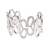 手鍊 手環 個性 時尚 百搭 經典 Bangle 銅鍍14K白金 施華洛世奇水鑽