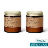 美國P.F. Candles CO.蠟燭3.5oz 2入組 美西松木