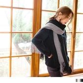 《ZB0703》雙色抽鬚素面圍巾 OrangeBear