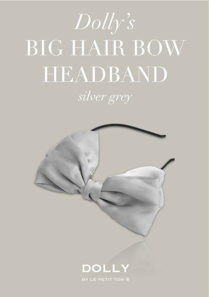 【荷蘭 DOLLY】手工大蝴蝶結髮箍_銀河灰款 #HEADB6