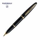 Waterman海洋筆系黑桿白夾18k鋼...