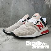 New Balance 247 卡其 深藍 紅LOGO  男女 慢跑 情侶鞋 (布魯克林) 2018/10月 MS247NMN