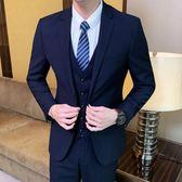 西裝套裝 韓版修身西裝套裝男士商務休閒小西服外套結婚禮服職業正裝【快速出貨八折搶購】
