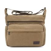 男士戶外背包大容量簡約帆布挎包斜跨休閒單肩斜挎包男 森活雜貨
