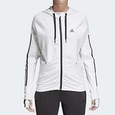 adidas 連帽外套 Perf FZ Hoody 白 黑 三條線 百搭款 明星款 女款 【ACS】 BK7676