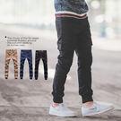 縮口褲 素面挺版多口袋工作褲長褲束口褲【N9955J】