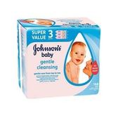 進口Johnsons嬰兒潔膚濕巾(56pcs*3包/袋)*3/箱購