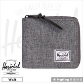 Herschel 皮夾 / 短夾 灰色 全拉鍊短夾 Walt-919 MyBag得意時袋