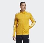 Adidas Core Linear Essentials 男款黃色立領外套-NO.EI4892