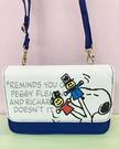 【震撼精品百貨】史奴比_Peanuts Snoopy ~SNOOPY長夾斜背包-藍#04329