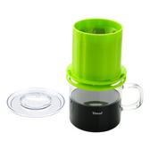 金時代書香咖啡  Tiamo UFO-180圓錐濾器獨享杯-翠綠色320cc 免用濾紙 1-2杯份  HG2325