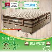 客約商品 床大師名床 機能纖維水冷膠獨立筒床墊 7尺雙人 (BM-威尼斯)