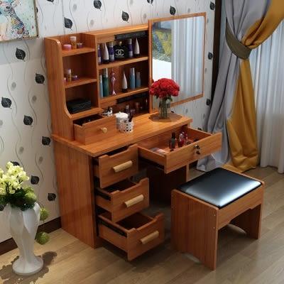 梳妝台臥室迷你化妝桌80cm小戶型化妝櫃簡約現代梳妝桌經濟型igo    伊鞋本鋪